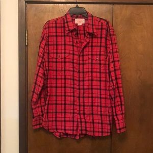 Filson Red and Black Flannel Button Down L